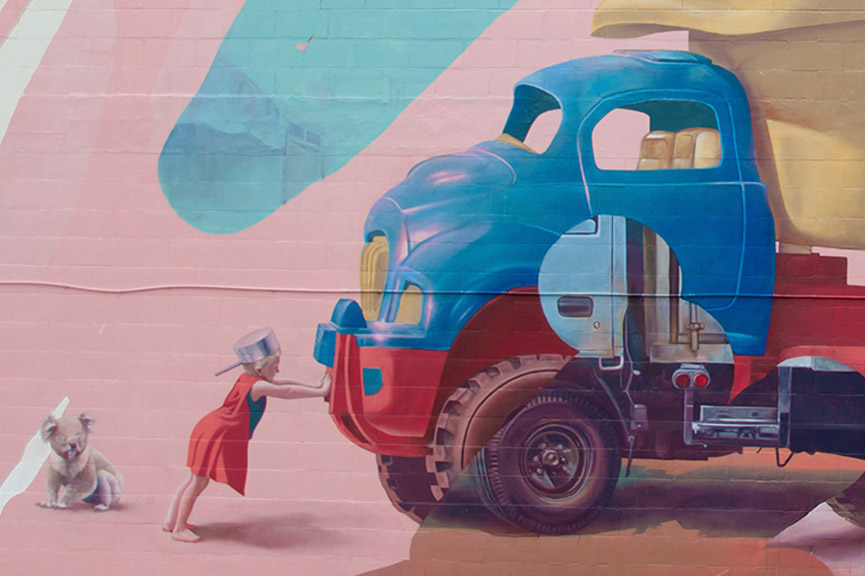 new mural by Telmo Miel