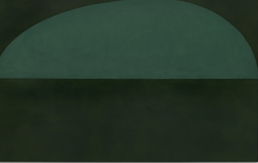 Suzan Frecon, Terre verte [detail], 2014, Oil on linen