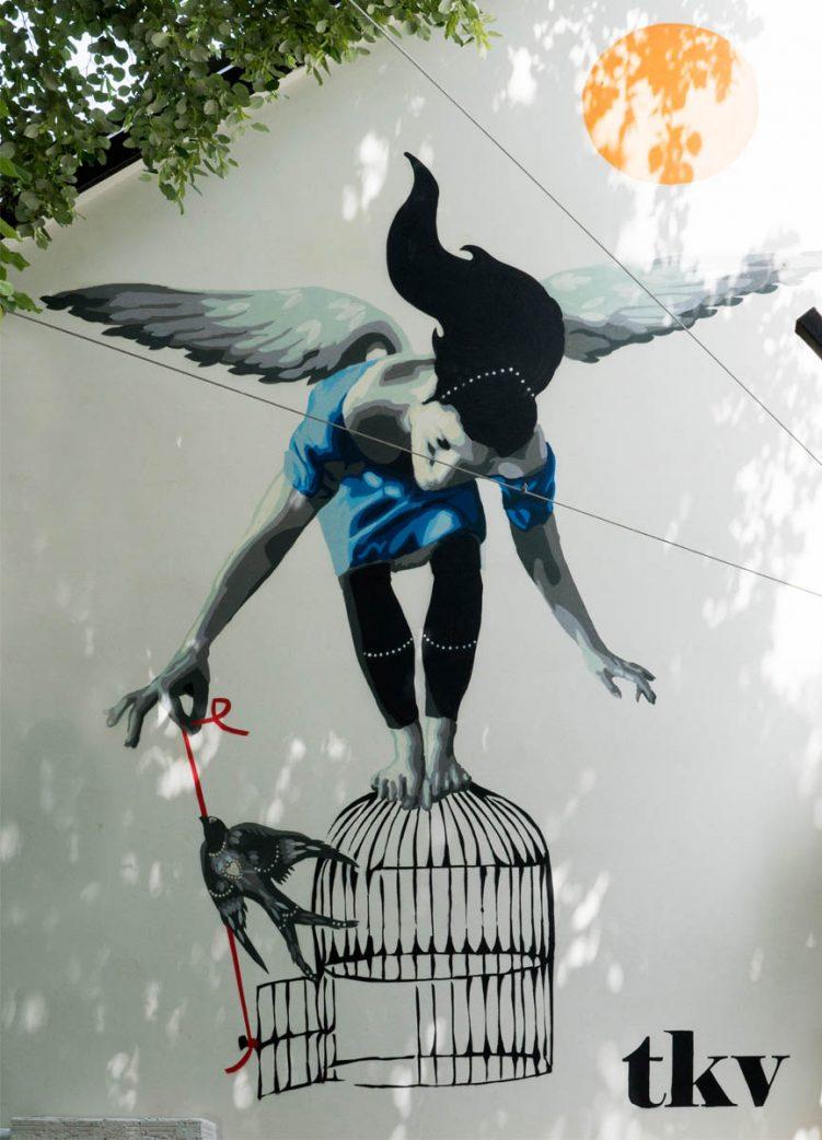 Mural by TKV in Belgrade