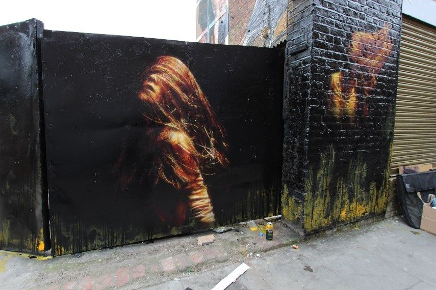 Artwork on view on the streets of UK