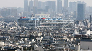 Aerial view of the Centre Pompidou