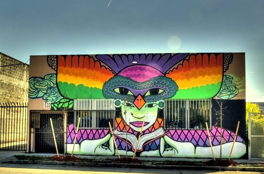 Wall art in Wynwood Art District