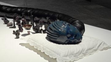 Wangechi Mutu - Installation view Victoria Miro Gallery 2014