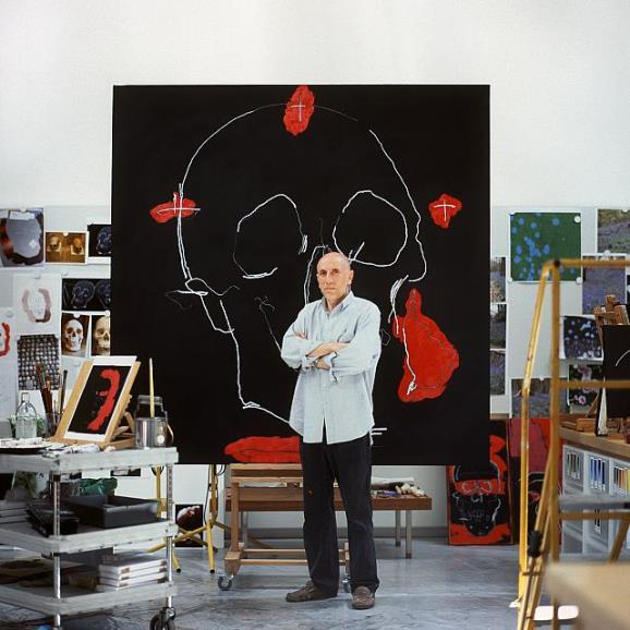 Brian Clarke in his studio, (c) Ti Foster